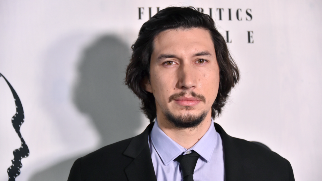 Adam Driver closeup at awards ceremony on the red carpet