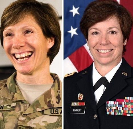 Army General Sisters headshots side by side both dressed in Uniform