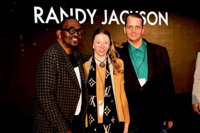 Thane and wife Cynthia with Randy Jackson