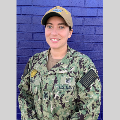 Master-at-Arms 1st Class Kristi Dennis in uniform