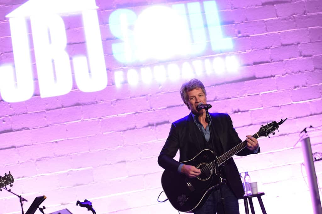 Jon Bon Jovi performs at the Soul Foundation 10 Year Anniversary
