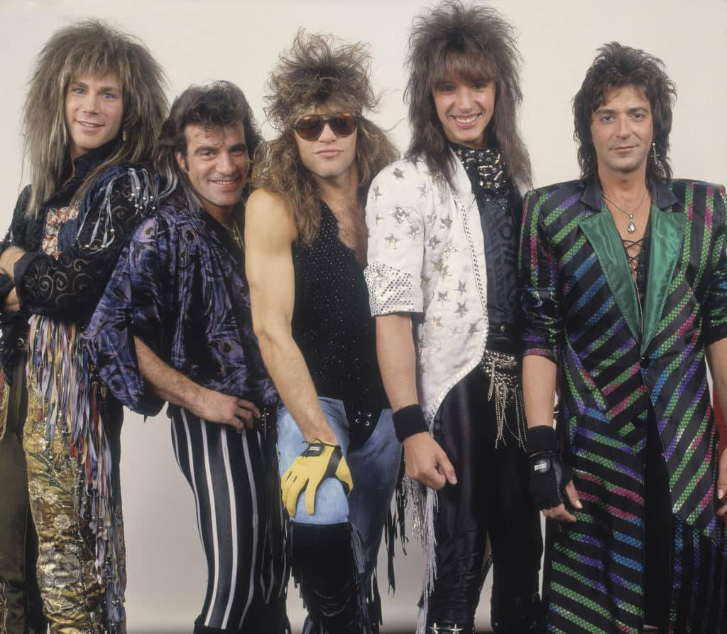 Bon Jovi and rock band 1987