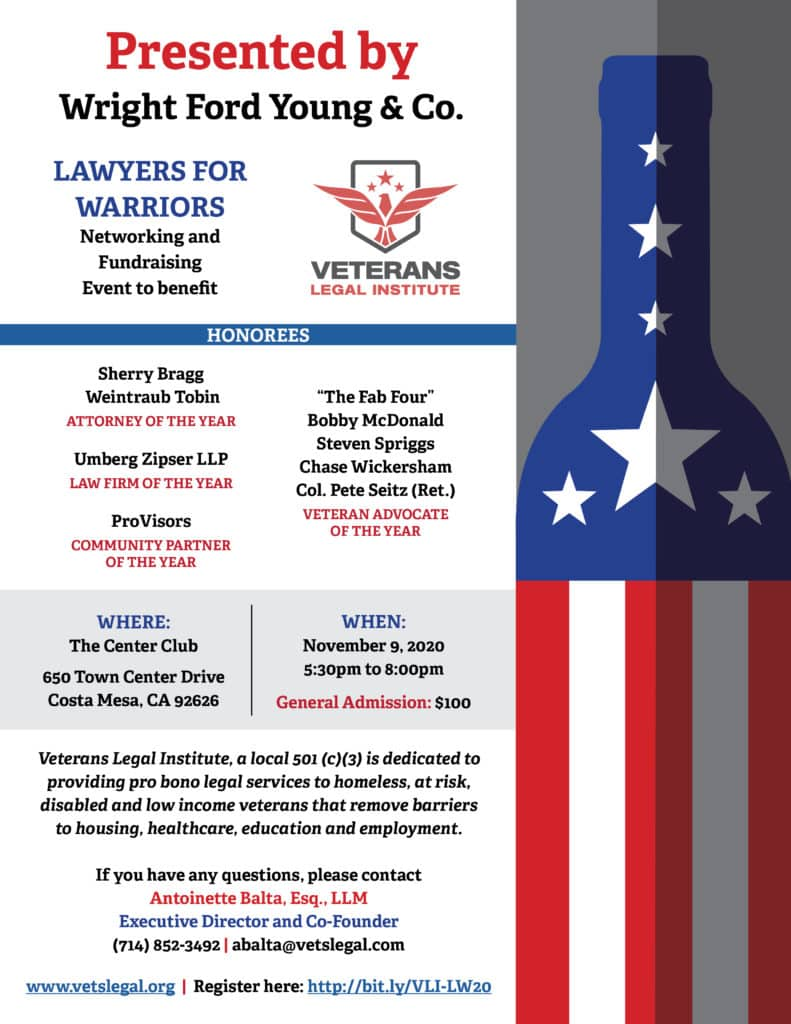 veterans legal institute event flyer