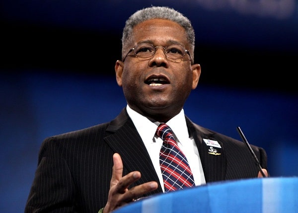 Allen West giving a speech