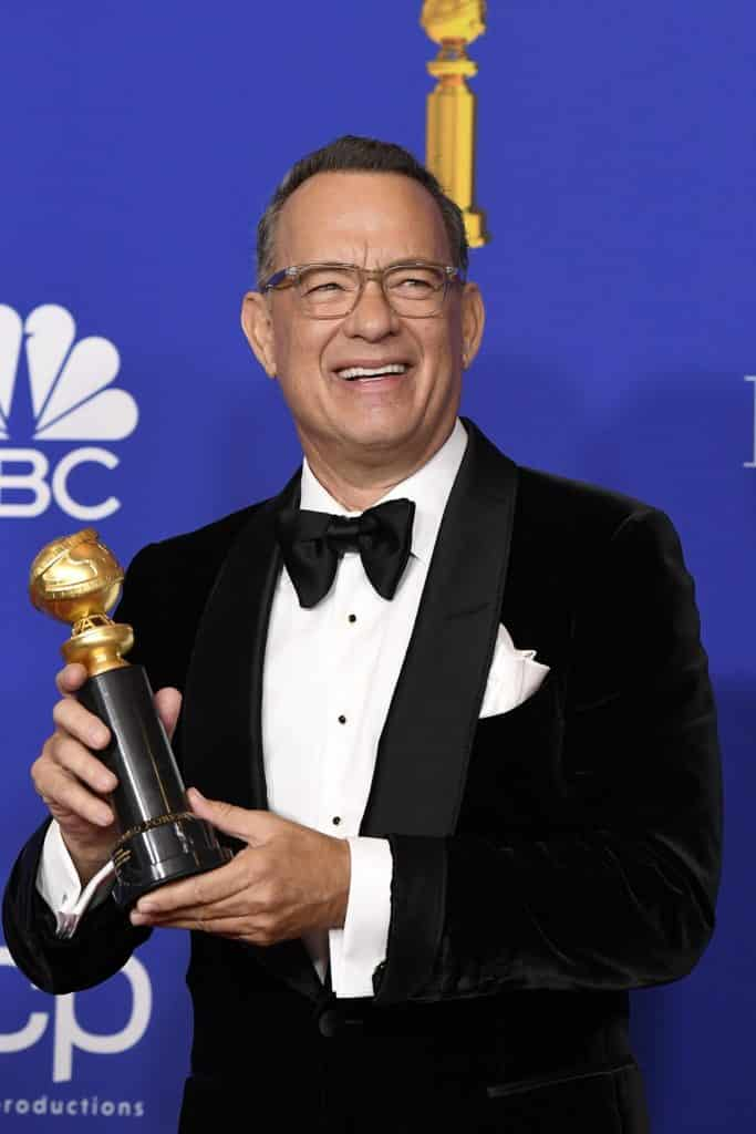 Actor Tom Hanks in the press room after accepting the Golden Globe Cecil B. DeMille Award at the 77th Annual Golden Globe Awards