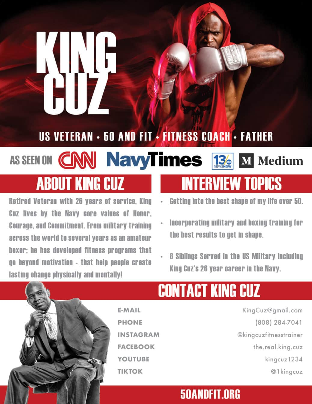 King Cuz promotional poster