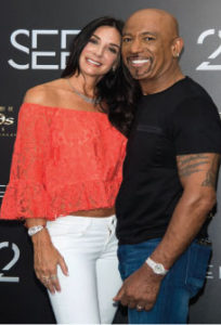 Montel Williams (R) and wife Tara Williams.