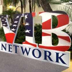 VIB Network signage for the virual conference