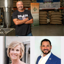 three small business owners pictured in a collage