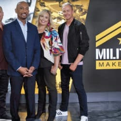 Montel Williams with cast of Military Makeover