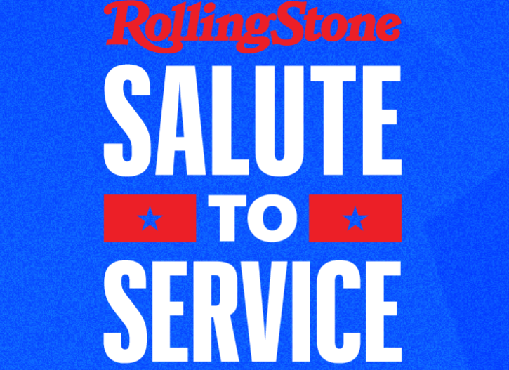 Rolling Stone promo for Salute to Service event