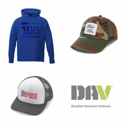 four images of holiday gifts including hats and coats