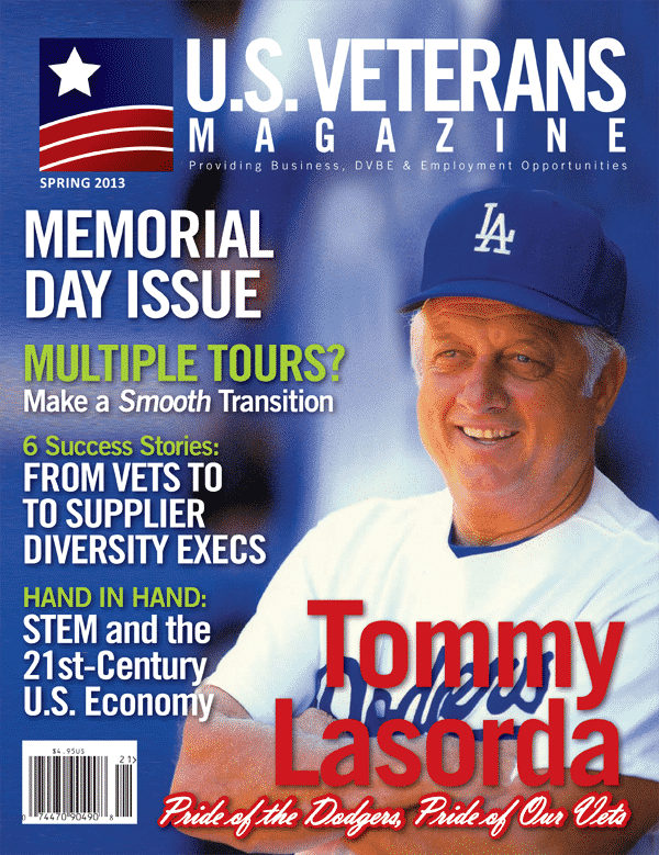 Tommy Lasorda on the cover of U.S. Veterans Veterans
