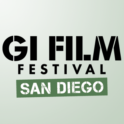 GI Film Festival promotional logo with the title and San Diego added