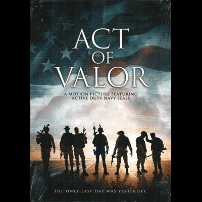 Act of Valor promo posted with soldiers in flag background
