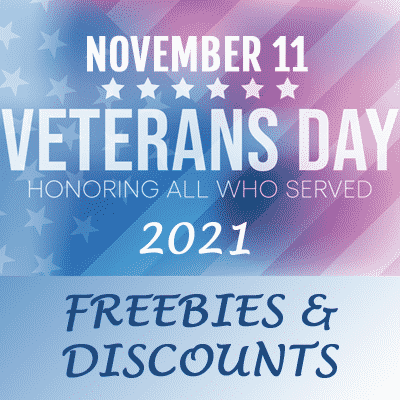 veterans day promo for freebies and discounts 2021